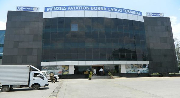 Cargo Terminal at Bengaluru Airport operated by Menzies Aviation  /  source: BLR