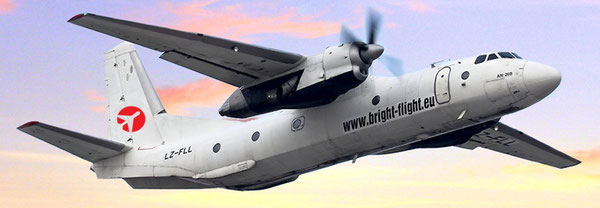Bright Flight's fleet of two AN-26Fs (one is pictured here) has been complemented by an ATR-42F  -  courtesy Bright Flight