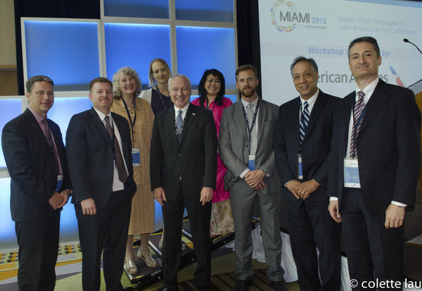 Doug Brittin (5th from left) along with TIACA members at Miami gathering  /  courtesy TIACA