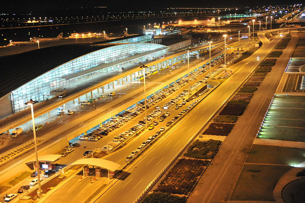 Tehran Airport at night  -  source: ICAO