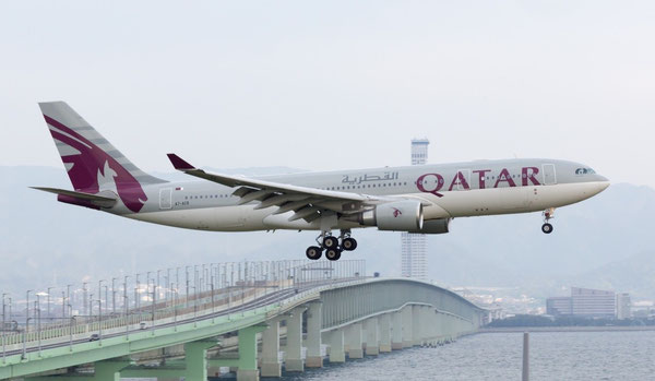 Qatar Airways uses A330 and B777 for Osaka service