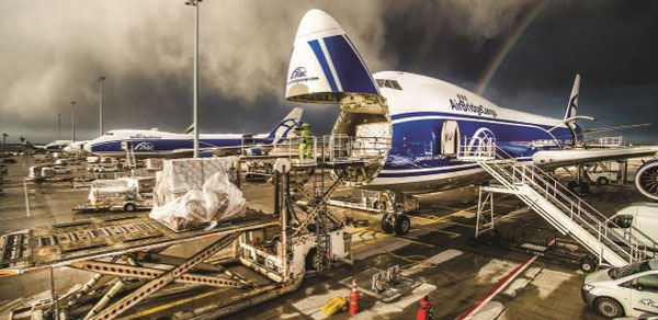 Three or four ABC 747 freighters being loaded or unloaded simultaneously is common sight in FRA  -  courtesy ABC