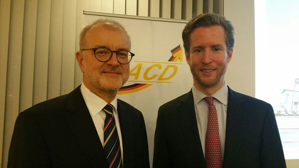 ACD President Winnfried Hartmann (left) and Alexis von Hoensbroech  -  picture hs