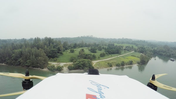 SingPost drone on its way to deliver mail