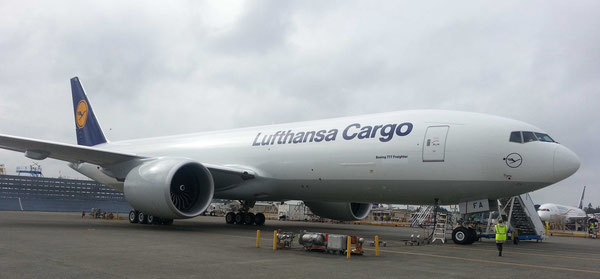 LH Cargo has secured delivery options for 5 Boeing 777Fs. Will they be operated by AeroLogic?