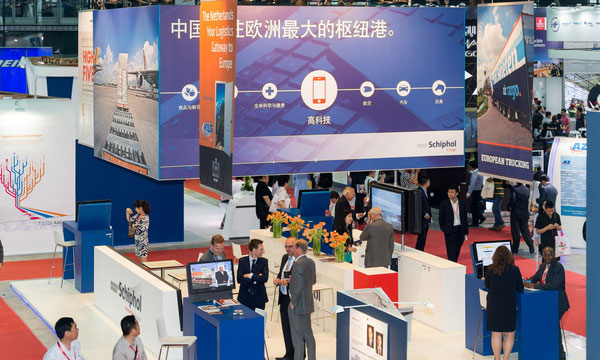 At the 2014-held Air Cargo China European exhibitors dominated the show. This might change next June with more Chinese companies booking stands  -  pictures: Messe Muenchen