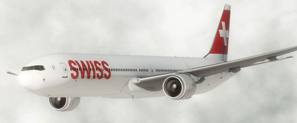 Offers abundant lower deck capacity – Swiss' first Boeing 777-300  -  courtesy Swiss.