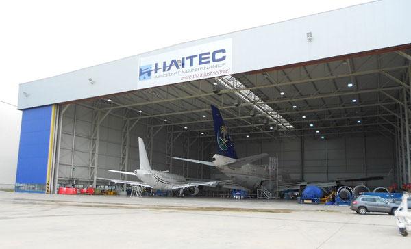 Today, HAITEC runs an 8,000sqm comprising hangar at Hahn Airport  /  source: HAITEC