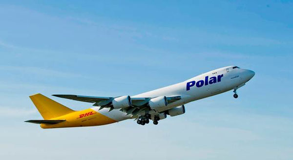 Polar links the DHL hubs Singapore and Cincinnati – courtesy Polar