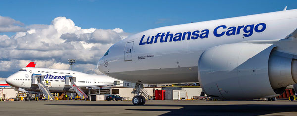 LH Cargo operates four Boeing 777f, with the fifth Triple Seven freighter expected to arrive shortly in Frankfurt  /  source: hs
