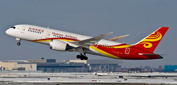 Hainan Airlines currently operates a fleet of 148 aircraft, including the Boeing 787 Dreamliner  -  company courtesy.