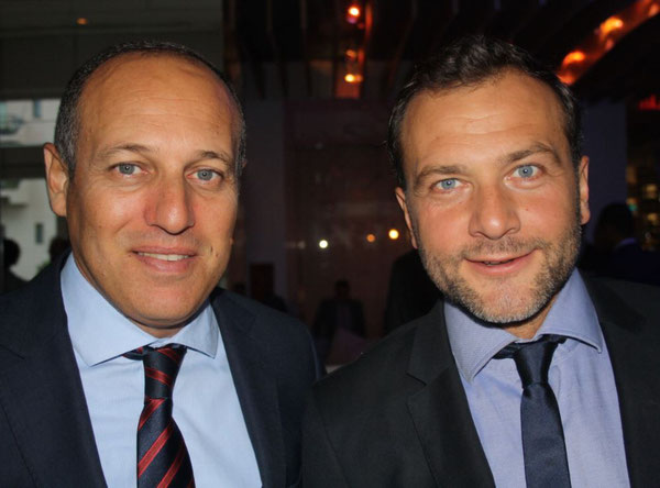 RAM Cargo's Amine El Farissi (left) and Adrien Thominet of sales agent ECS  -  source: hs