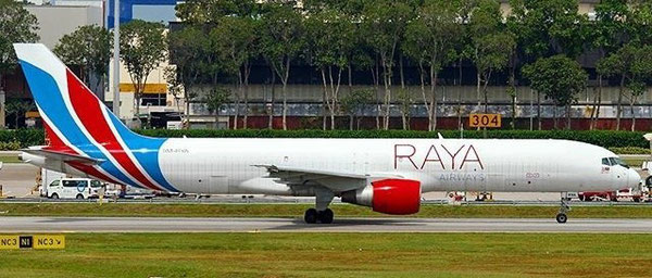 Raya Airways Boeing 757F at Singapore Changi Airport – company courtesy