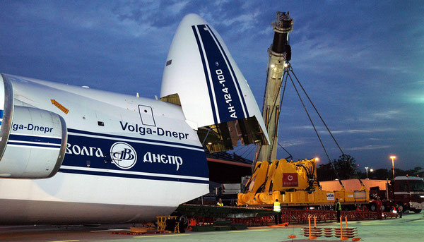 A Volga-Dnepr operated AN-124-100 at DUS Airport  -  picture: hs