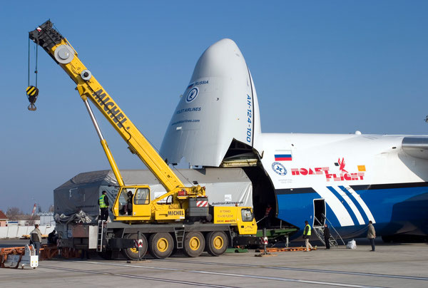 One of former Polet Airlines operated AN-124-100 that is expected to soon join Volga-Dnepr's fleet.
