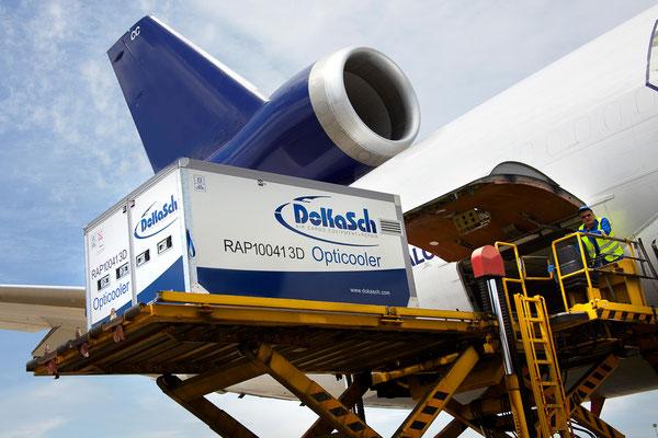 Loading of DoKaSch's Opticooler  /  company courtesy