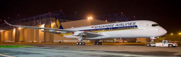 SIA's new flagship A350 will be operated on the DUS route  -  courtesy Airbus