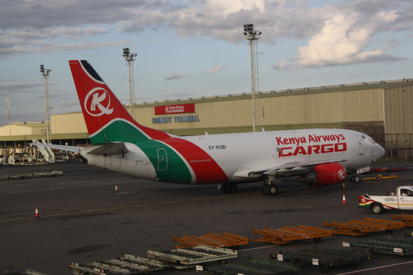 One of Kenya Airways' P2C converted Boeing 737-300Fs   -  picture hs