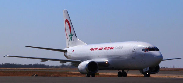 RAM Cargo's sole 737-330 freighter links Europe and Africa via Casablanca  -  courtesy RAM