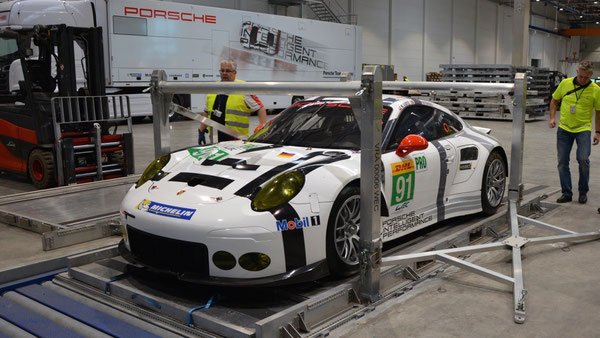 Porsches and their competitors traveled well protected across the Atlantic