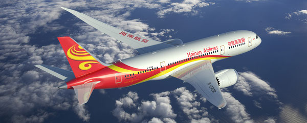 HNA operates a mixed fleet, among them Boeing's latest variant, the 787.