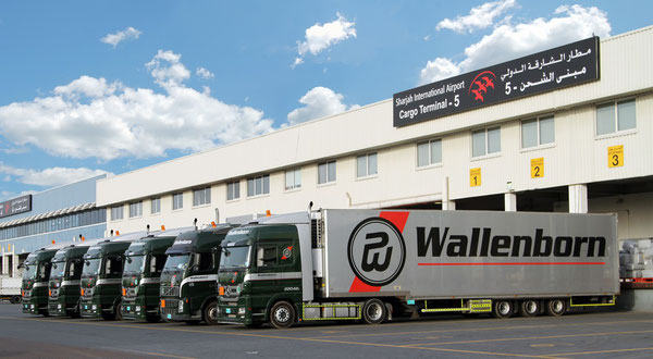 Wallenborn trucking fleet at Sharjah Airport  -  pictures Wallenborn