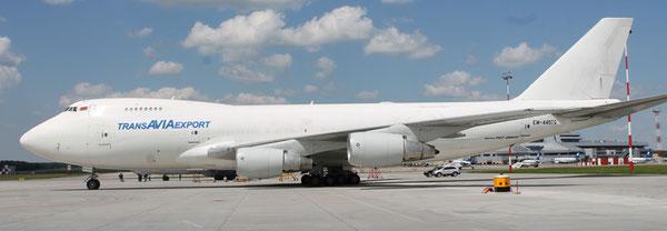 Transavia Export operated Boeing 747-300F  -  company courtesy