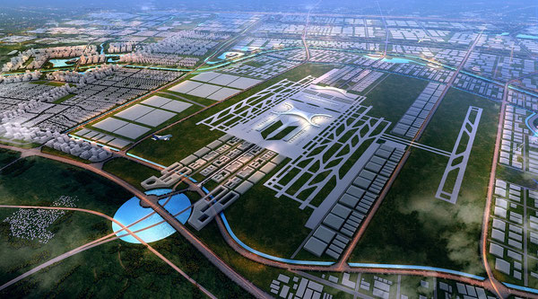 Futuristic Zhengzhou Airport becomes the centerpiece of the Free Trade Zone  -  image ZACEEZ