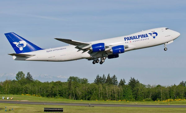 Panalpina has wet leased (ACMI) a Boeing 747-8F from Atlas Air to cover transatlantic trunk routes / courtesy Panalpina
