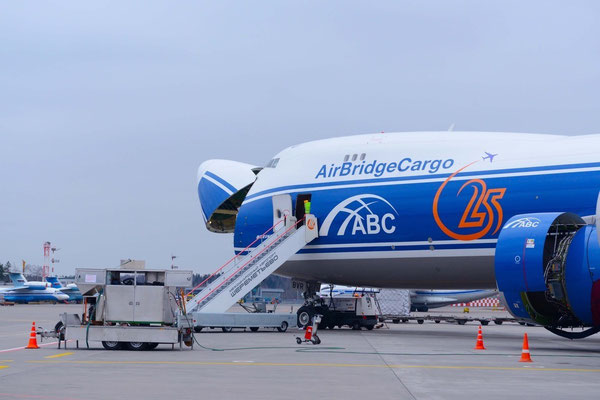 One of AirBridgeCargo's Boeing 747 freighters at Moscow's Sheremetyevo airport  -  courtesy V-D
