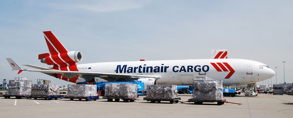 Will soon be history – one of Martinair's MD-11F  /  company courtesy