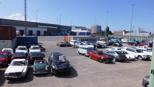 Bild: Bremerhaven, US-Cars, HDW, Hafen, Import Autos