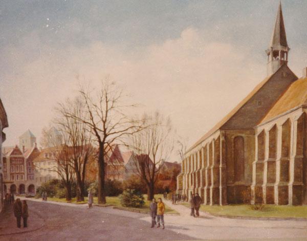 Blick zur Apostel-Kirche