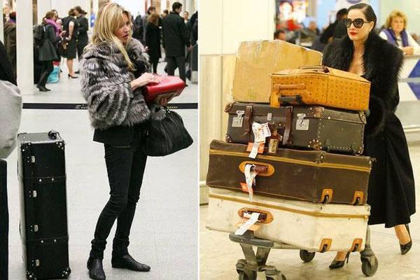 左:Kate Moss, 右:Dita Von Teese