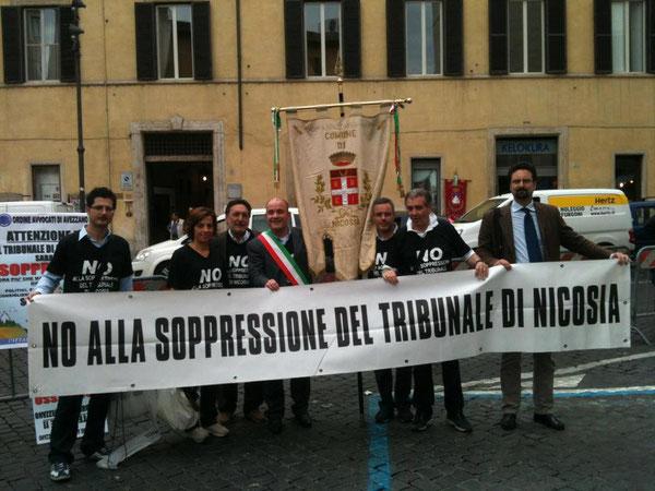 Manifestazione ANCI-OUA - Roma, Piazza Montecitorio