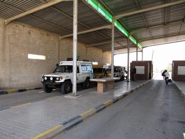Der Grenzübergang nach Libyen.