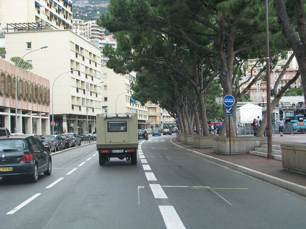 Die Start- und Zielgerade in Monaco