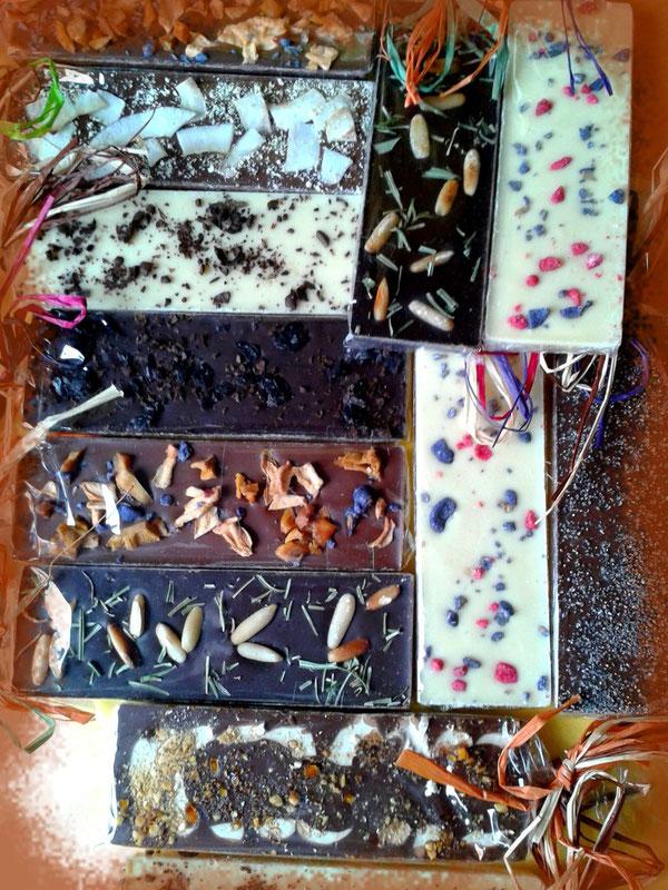 Schokoladentafel gießen