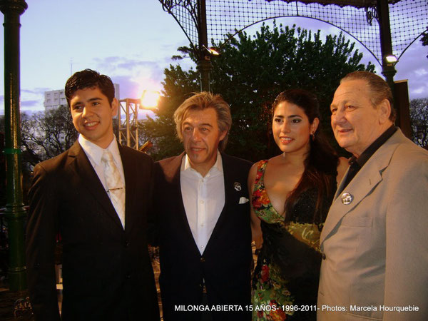 Sebastián Ariel Jiménez, Marcelo Salas, María Inés Bogado y Jorge Manganelli