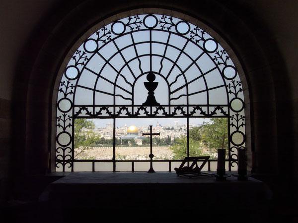 Dominus Flevit Kirche/Dominus Flevit Church, Altar, Mount of Olives, Jerusalem, Israel, 29.05.2010, Lumix Fz18. Foto: Eleonore Schindler von Wallenstern.