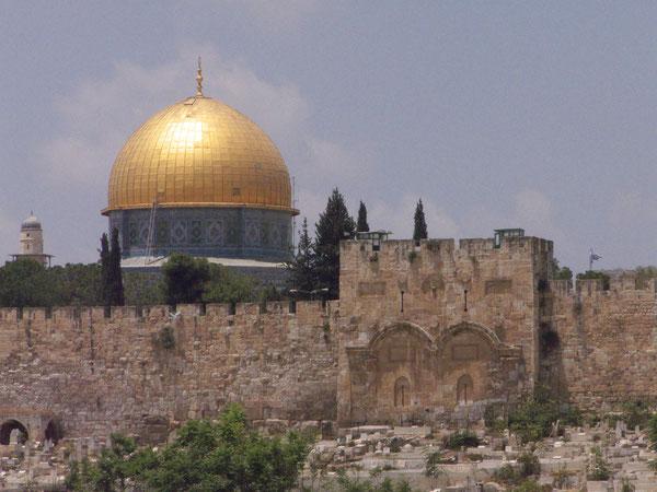 Goldenes Tor/Golden Gate, Jerusalem, Israel, 29.05.2010, Lumix Fz18. Foto: Eleonore Schindler von Wallenstern.