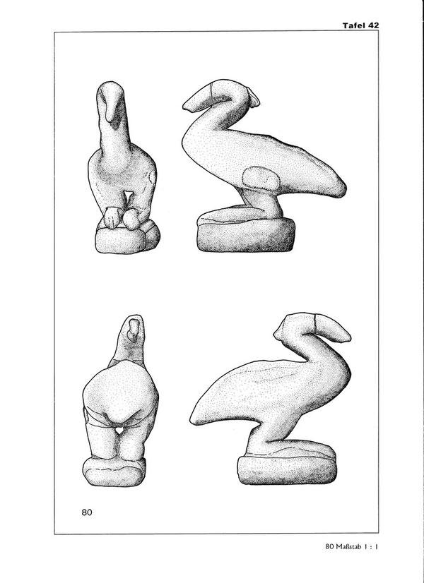 Taf. 42, aus: E. Schindler von Wallenstern, Die Reiher im Alten Ägypten - Ornithologische Betrachtungen und religionsgeschichtliche Bedeutung, Dissertation, Tübingen (2002), 2011, p. 418.