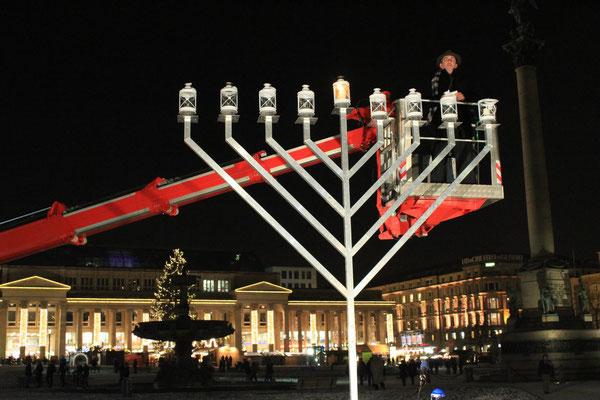 Chanukka, IRGW, Stuttgart, Germany, 08.12.2012, Canon EOS 550d. Foto: Eleonore Schindler von Wallenstern.