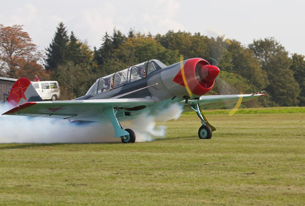 """TAKE-OFF"", JAK-52, Pilot: Peter Domnike, Nagold, Germany, 05.10.2014, Canon EOS 550d. Foto: Eleonore Schindler von Wallenstern."