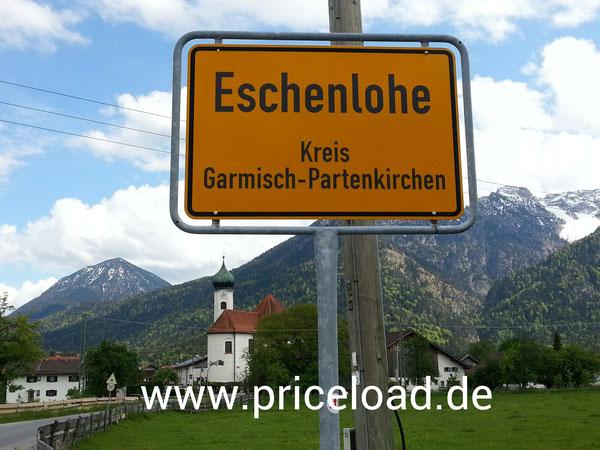 Einfahrt Eschenlohe