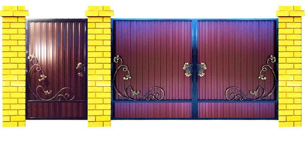 Шоколадные кованые ворота
