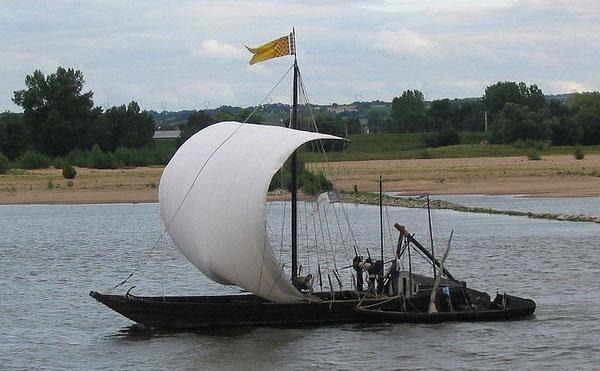 gabare Montjean Loire