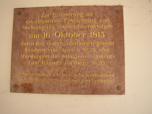 Gedenktafel für die österreichischen Truppen Foto  Krowiorsch
