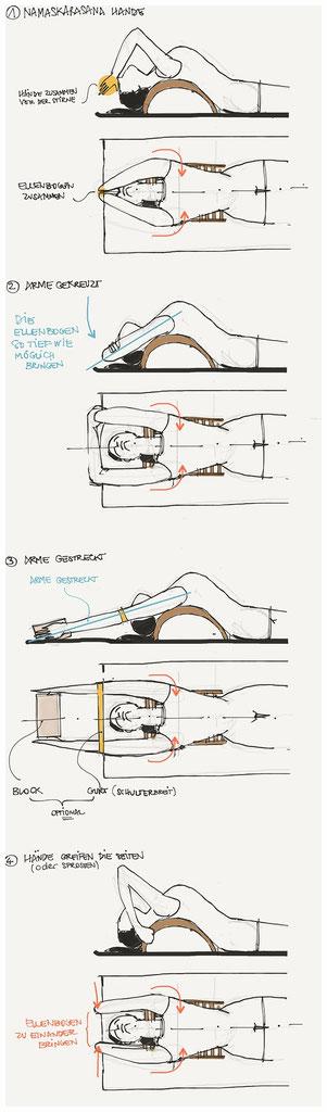 yogawood große Rückbeugebank / Backbender für passive Rückbeugen.
