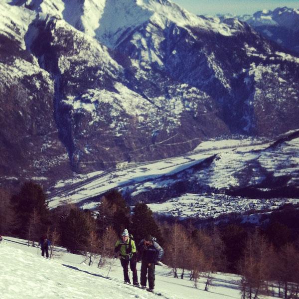 Aufstieg über dem Rhonetal